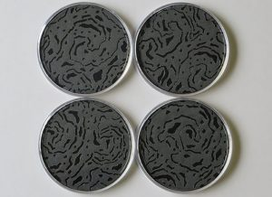 Black Soldered Coaster