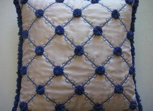Blue Pompom Closeup