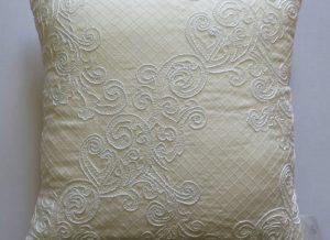 Diagonal Lace Cushion Closeup