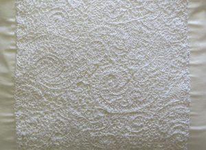 Lace Placement Cushion Closeup