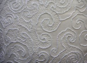 Pintuck Lace Cushion Closeup